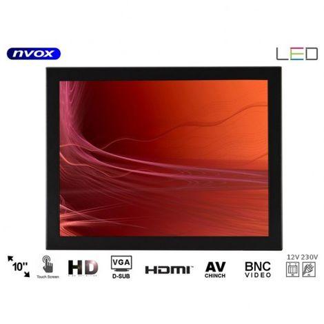 pantalla táctil del marco abierto LED 10cali hdmi vga av BNC USB 12v 230v