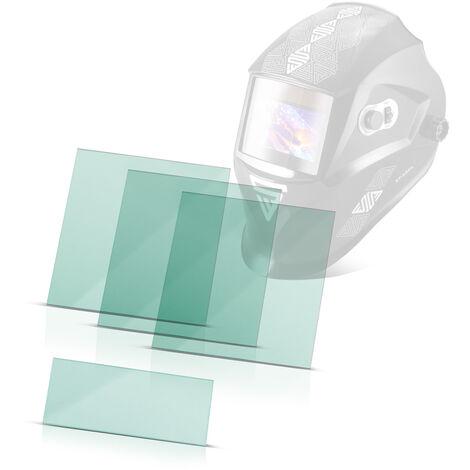 Pantallas de repuesto STAHLWERK para el casco de soldador ST-550L, transparente, conjunto de 3