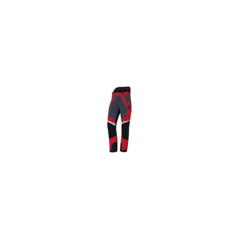 Pantalon anti-coupures X-treme Light, le plus léger, taille EU 56/ FR 50 - Rouge/gris