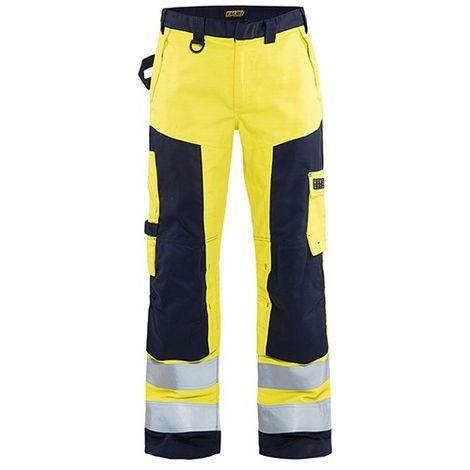 Pantalon artisan multinormes - 3389 Jaune fluo/Marine - Blaklader