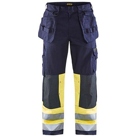 Pantalon artisan multinormes - 8933 Marine/Jaune fluo - Blaklader
