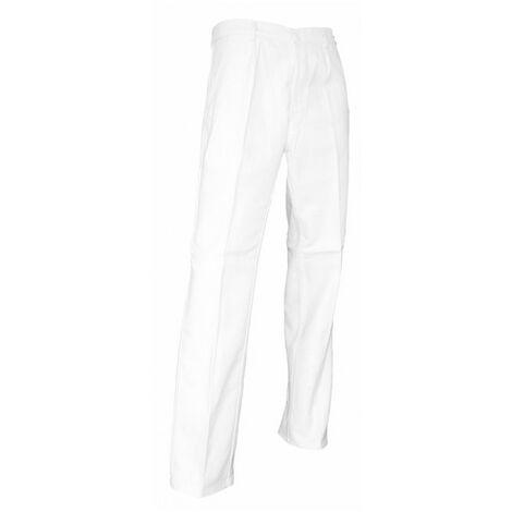Pantalon artisan peintre coton multipoches et braguette à boutons - Gamme Peinture - PINCEAU - BLANC - 100144 - LMA Lebeurre