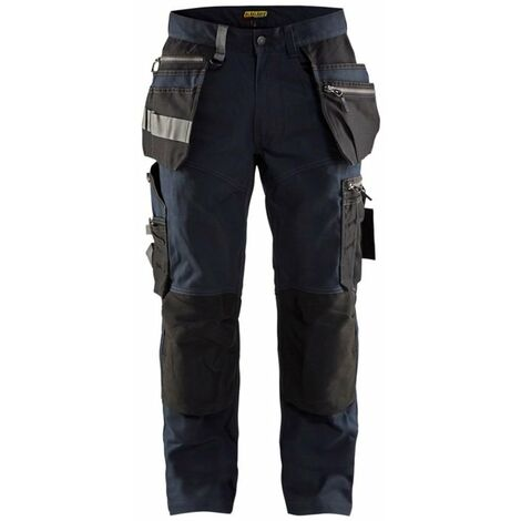 Pantalon artisan stretch - 8699 Marine foncé/Noir - Blaklader