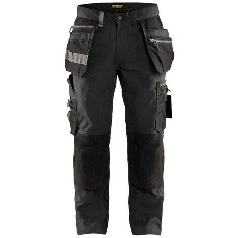 Pantalon artisan stretch - 9899 Gris Foncé/Noir 15901343 - Blaklader