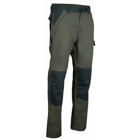 Pantalon avec poches aux genoux bicolore - STATION - Olive / Vert US