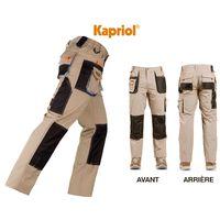 Pantalon avec renforcements beige - KAPRIOL - SMART