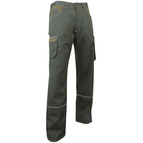 Pantalon biais rétro-réfléchissants bicolore - COMPAS - Kaki / Havane