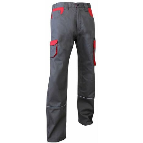 Pantalon biais rétro-réfléchissants bicolore - LIN - Gris / Rouge