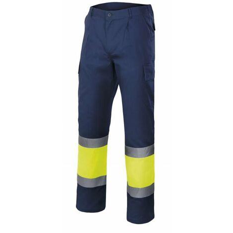 Pantalón bicolor multibolsillos alta visibilidad