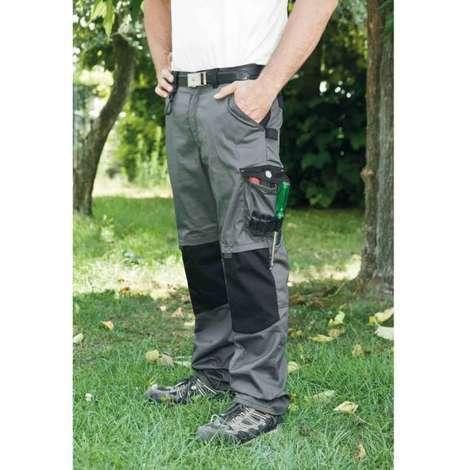 Pantalon bicolore Gris/Noir avec poches genouillères - LMA - PLOMB