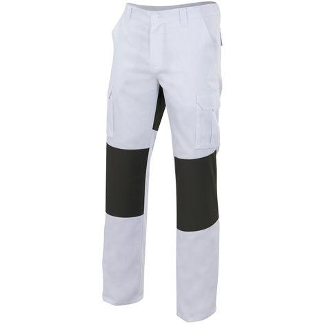 Pantalón blanco multibolsillos con refuerzos Serie R103001