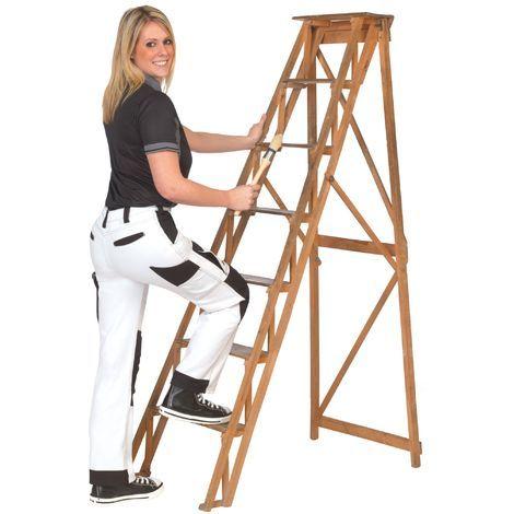 Pantalon Coupe Femme Blanc/Noir Taille du 34 au 48 - Dulary