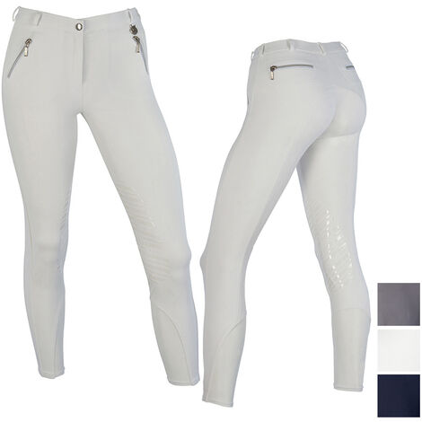 Pantalon d'équitation en microfibre avec zip Sartore