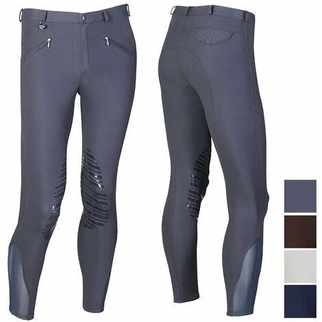 Pantalon d'équitation homme en microfibre avec grip silicone Winner