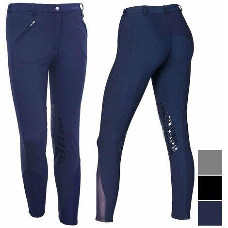 Pantalon d'équitation léger d'été pour femmes, avec poignée en silicone et tissu extensible Winner