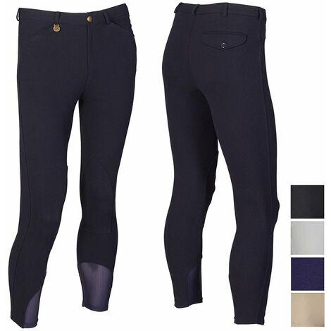 Pantalon d'équitation pour homme en coton stretch et inserts en Lycra à la cheville Sartore