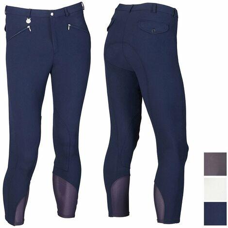 Pantalon d'équitation professionnel pour homme en microfibre avec coupe anatomique et empiècements en lycra Sartore