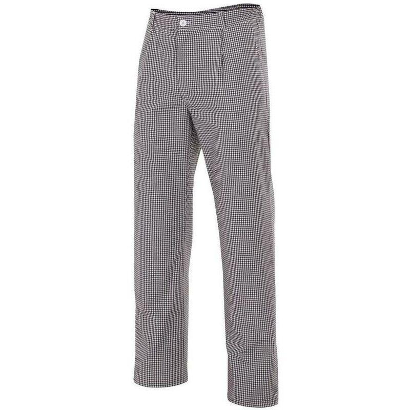 Pantalon de cuisine a carreaux Noir 58 - Velilla