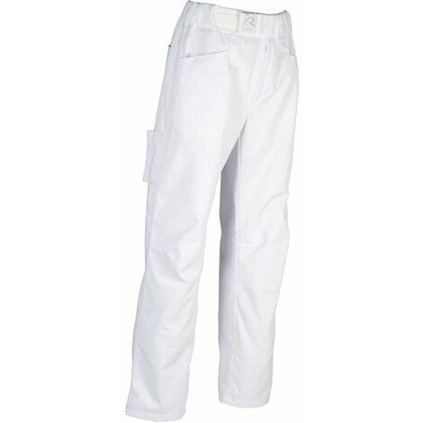 Pantalon De Cuisine Ceinture Eponge Elastiquee Robur Arenal Blanc