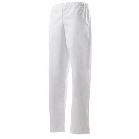 Pantalon De Cuisine Mixte Ceinture Elastiquee Robur Goyave Blanc