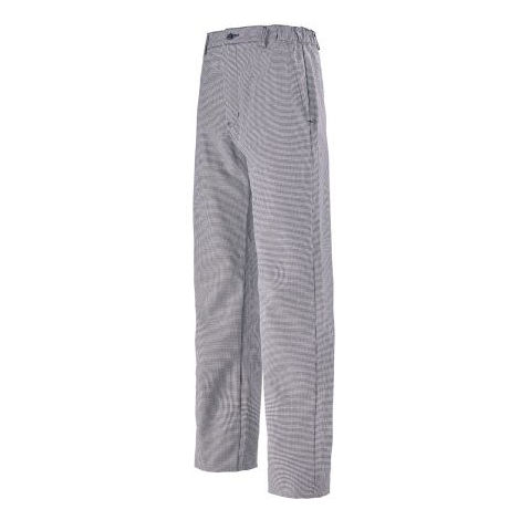 Pantalon de cuisine pied de poule marine 100% coton LAFONT - Taille 36 - 1FCH87COCB36