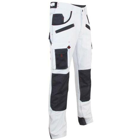 "main image of ""Pantalon de peintre à genouillères AEROSOL LMA Gris / Blanc 52"""