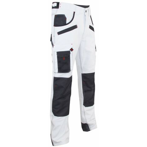Pantalon de peintre à genouillères AEROSOL LMA Gris / Blanc 54