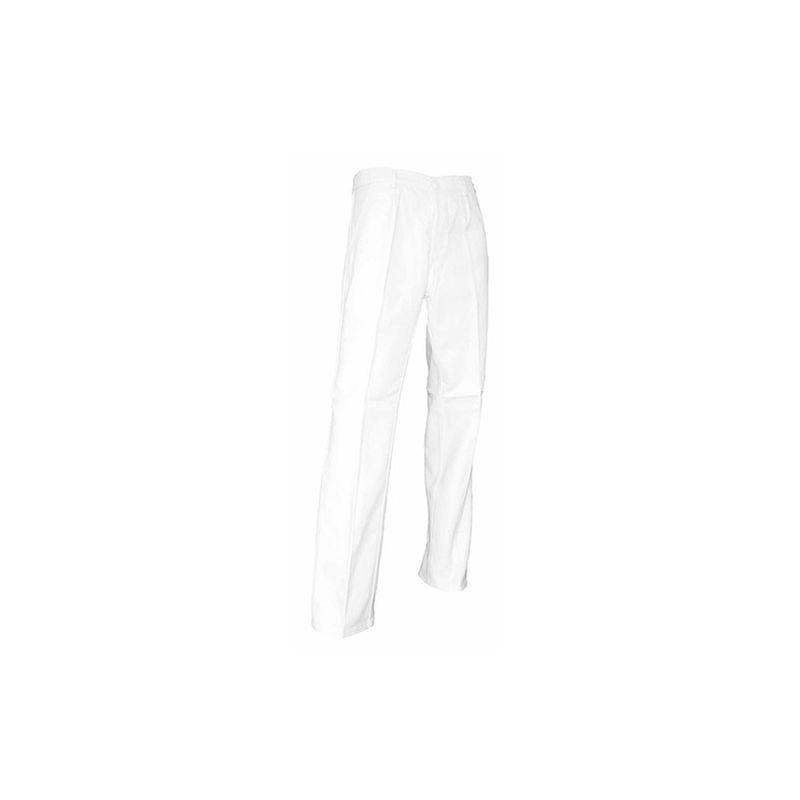 LMA 100144 PINCEAU Pantalon de peintre Braguette /à Boutons Taille 42 Blanc