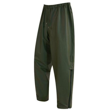 Pantalon de pluie pour travaux forestiers 100% PU grand soufflet lateral avec ZIP pour plus de confort - PAPLU01 - Solidur