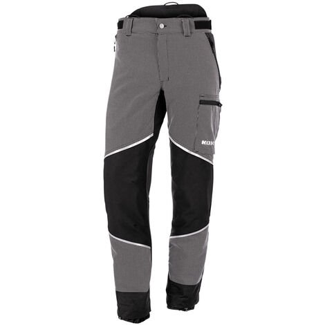 Pantalon de protection anti-coupures Caribou 2.0 de KOX, noir/gris