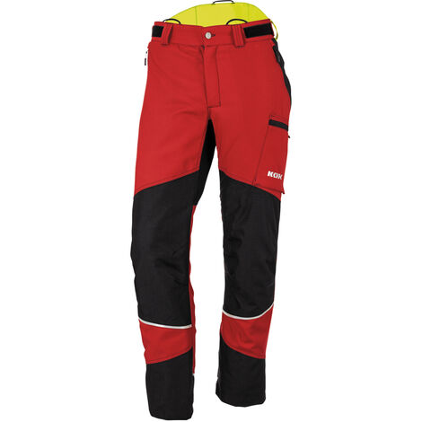 Pantalon de protection anti-coupures Duro 2.0 de KOX, rouge