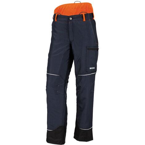 Pantalon de protection anti-coupures Mistral 2.0 de KOX, bleu foncé