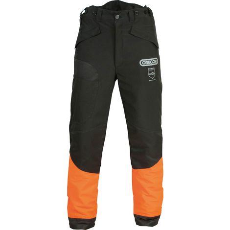 Pantalon de protection Waipoua® Oregon - Taille L - Noir et orange