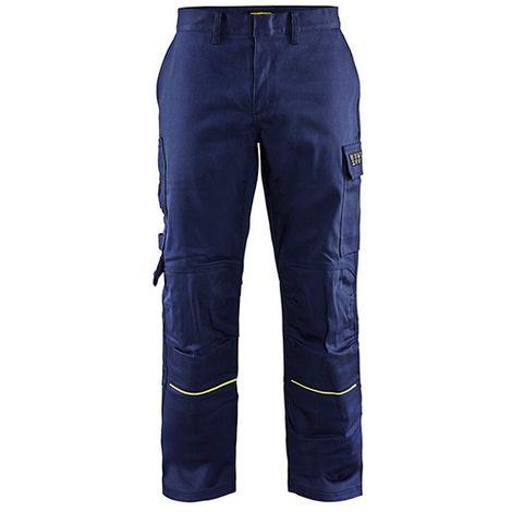 Pantalon de soudeur - 8933 Marine/Jaune fluo - Blaklader