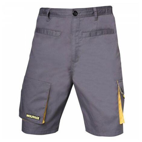 Pantalon de trabajo gris/amarillo corto talla 38/40 s