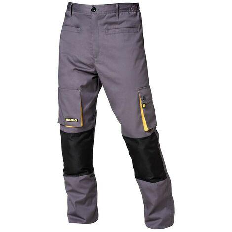 Pantalon de trabajo gris/amarillo largo talla 50/52 xl