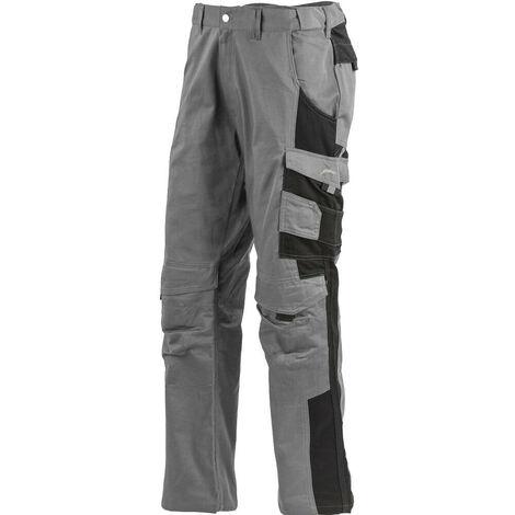 Pantalon de travail 100% coton multipoches Albatros PROFI LINE Gris / Noir