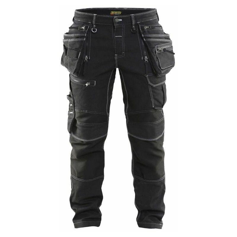 Pantalon artisan X1900 stretch - 1990 (noir - 46 - jambes standard : 176-180 cm) - Blaklader