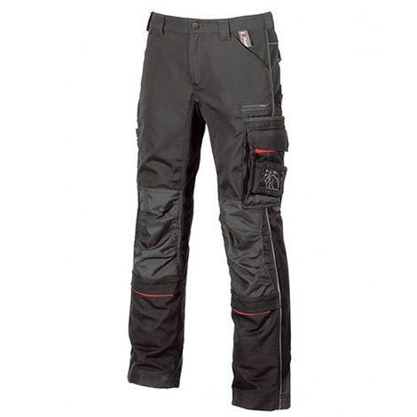 Pantalon de travail avec deux grandes poches italiennes et poche zippée cachée - DRIFT Black Carbon - IM010BC - U-Power