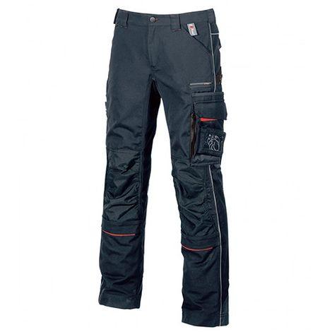 Pantalon de travail avec deux grandes poches italiennes et poche zippée cachée - DRIFT Deep Blue - IM010DB - U-Power
