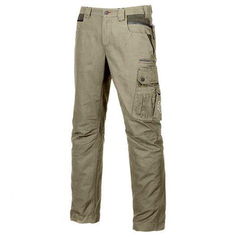 Pantalon de travail avec deux poches italiennes à soufflet - URBAN Desert Sand - EX027DS - U-Power