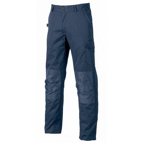 Pantalon de travail avec poches genouillère réglables - ALFA Deep Blue - ST068DB - U-Power
