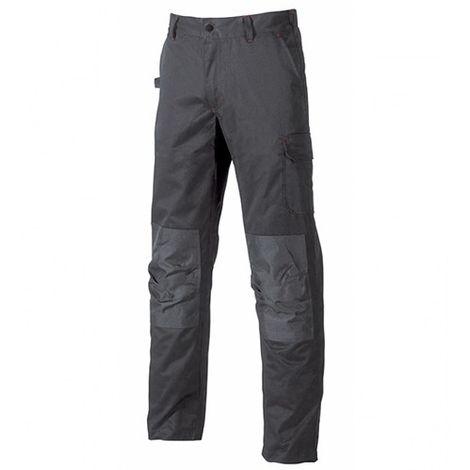 Pantalon de travail avec poches genouillère réglables - ALFA Grey Meteorite - ST068GM - U-Power