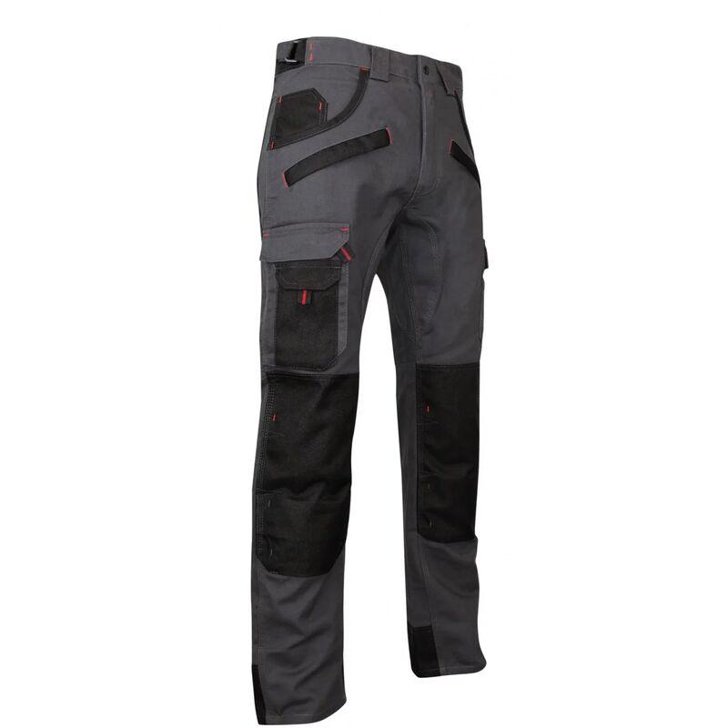 Pantalon de travail multipoches à genouillères Gris/Noir | 1261 ARGILE - LMA | 60