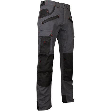 Pantalon de travail bicolore avec poches genouilléres ARGILE LMA Gris Foncé
