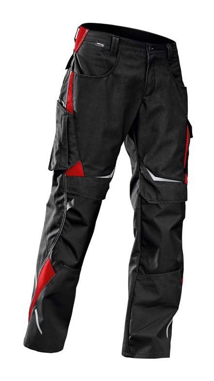Kubler - Pantalon de travail noir/rouge, Gr.54