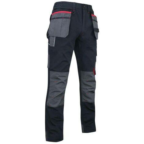 Pantalon de travail canvas avec poches genouillères et multipoches - Gamme Minerai - MINERAI - NOIR - 1378 - LMA Lebeurre