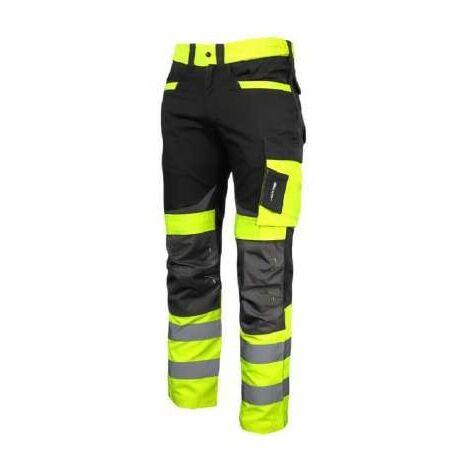 pantalon de travail d'avertissement à la ceinture jaune Slim Fit Pro L40511 Lahti