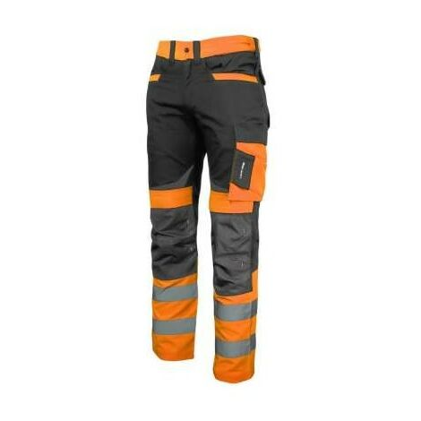 pantalon de travail d'avertissement à la ceinture orange Slim Fit Pro L40512 Lahti