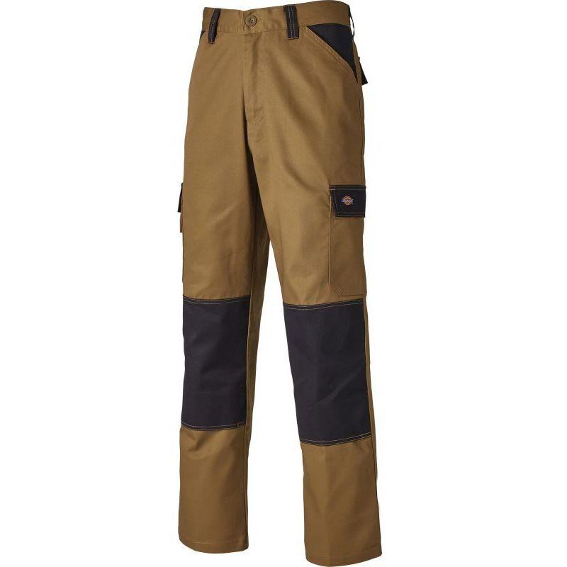 Pantalon de travail multipoches CVC - DICKIES - EDCVC   Kaki / Noir - 46 - DICKIES WORKWEAR